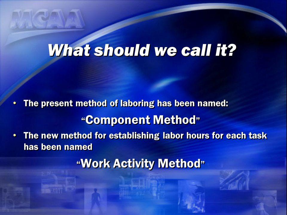 Work Activity Method