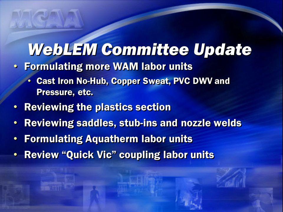 WebLEM Committee Update