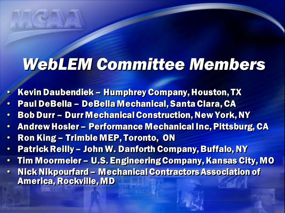 WebLEM Committee Members