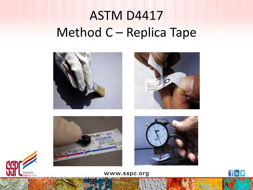 ASTM D4417 Method C – Replica Tape