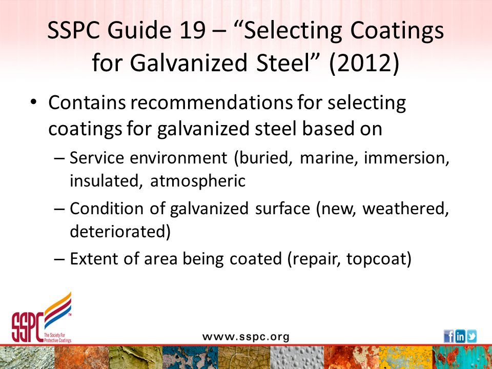 SSPC Guide 19 – Selecting Coatings for Galvanized Steel (2012)
