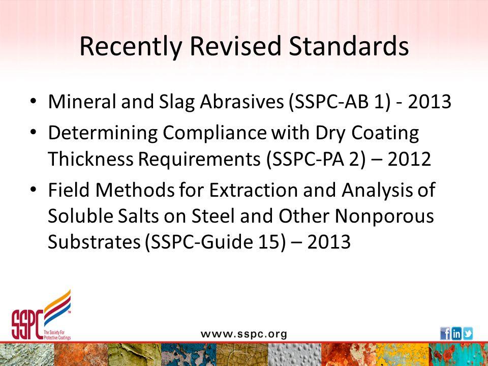 Recently Revised Standards
