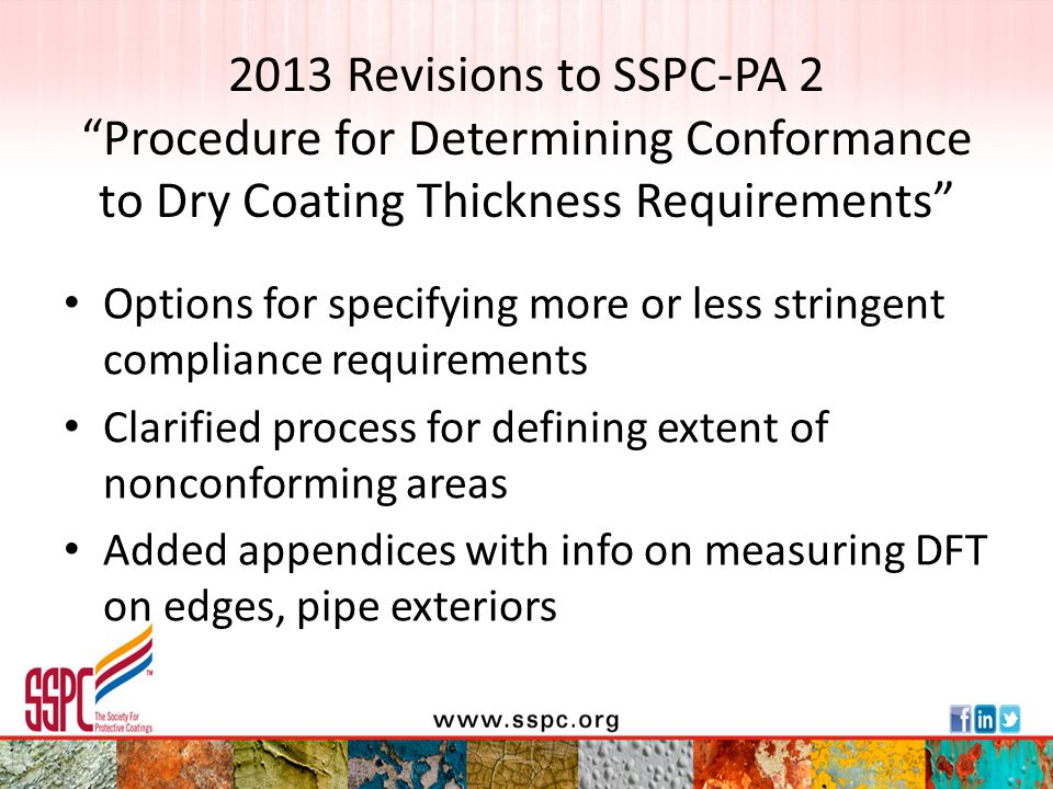 2013 Revisions to SSPC-PA 2 Procedure for Determining Conformance to Dry Coating Thickness Requirements