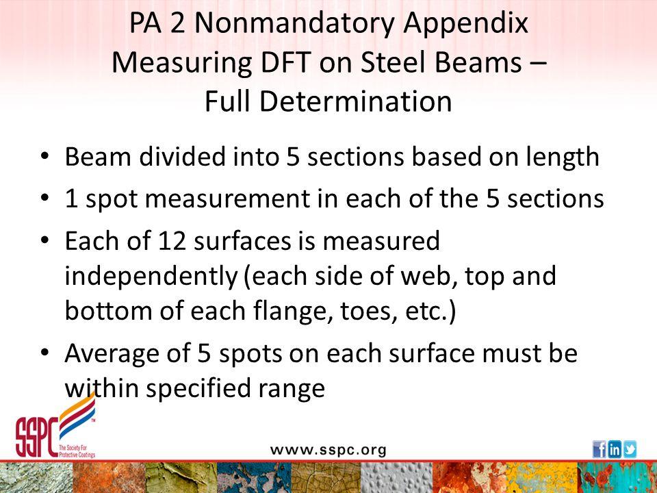 PA 2 Nonmandatory Appendix Measuring DFT on Steel Beams – Full Determination