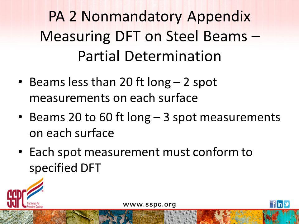 PA 2 Nonmandatory Appendix Measuring DFT on Steel Beams – Partial Determination