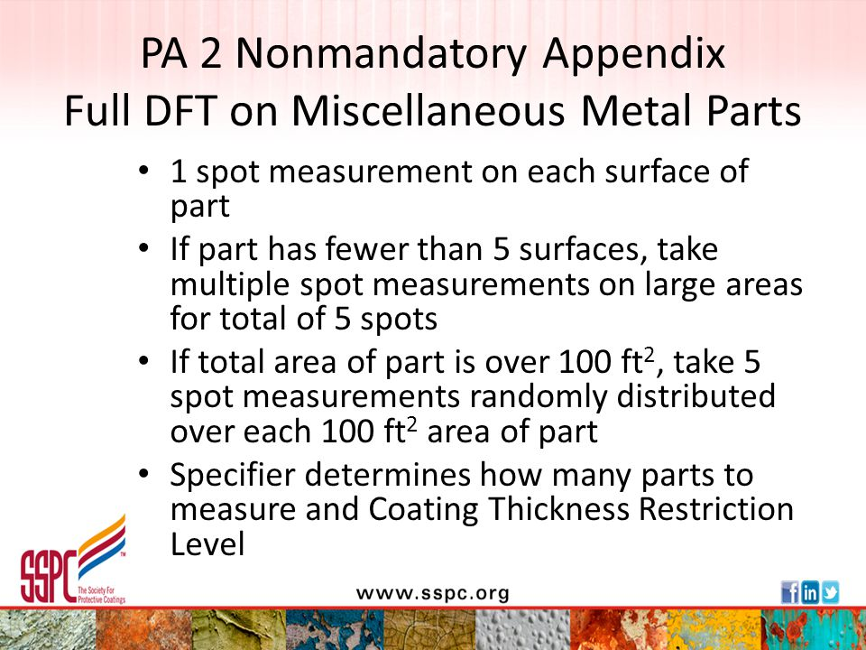 PA 2 Nonmandatory Appendix Full DFT on Miscellaneous Metal Parts