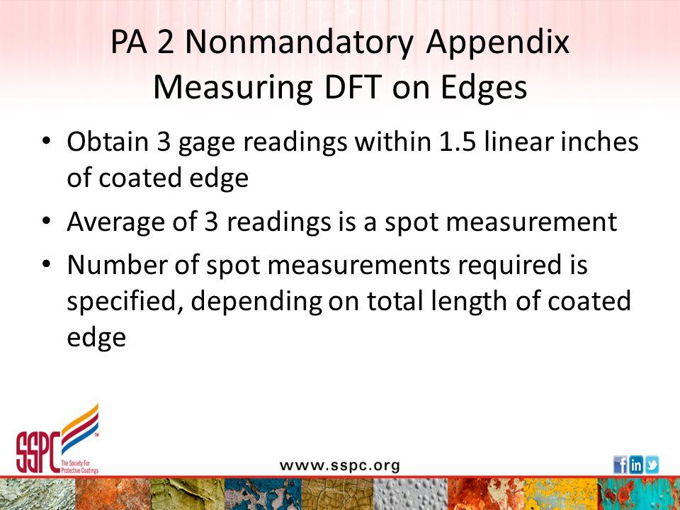 PA 2 Nonmandatory Appendix Measuring DFT on Edges