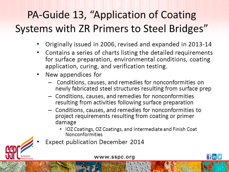 PA-Guide 13, Application of Coating Systems with ZR Primers to Steel Bridges