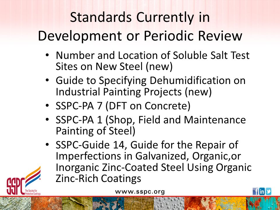 Standards Currently in Development or Periodic Review