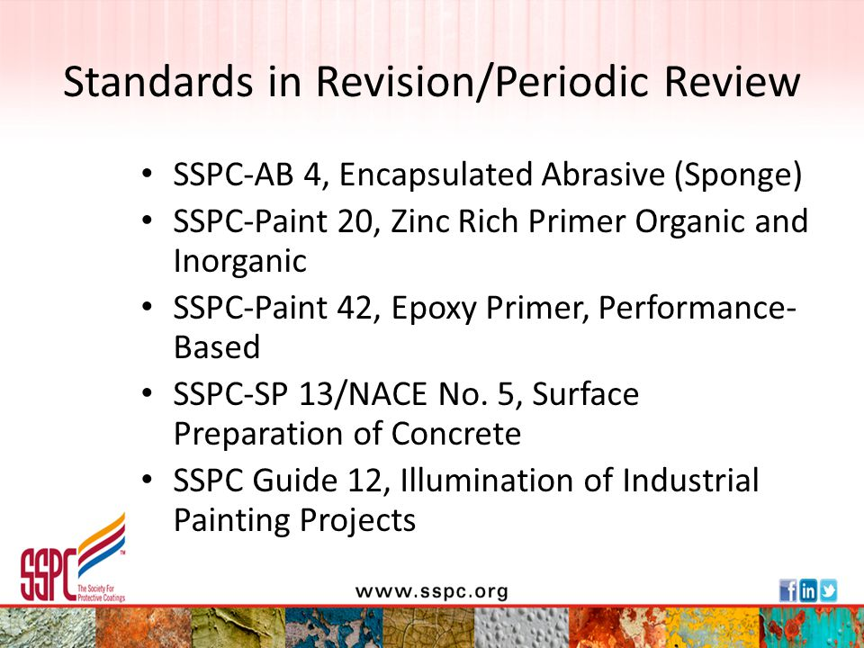 Standards in Revision/Periodic Review