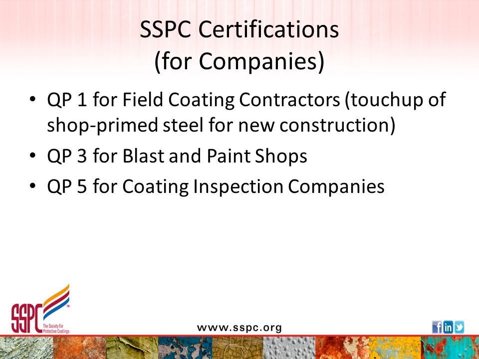 SSPC Certifications (for Companies)