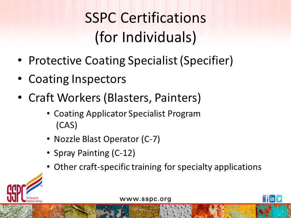 SSPC Certifications (for Individuals)