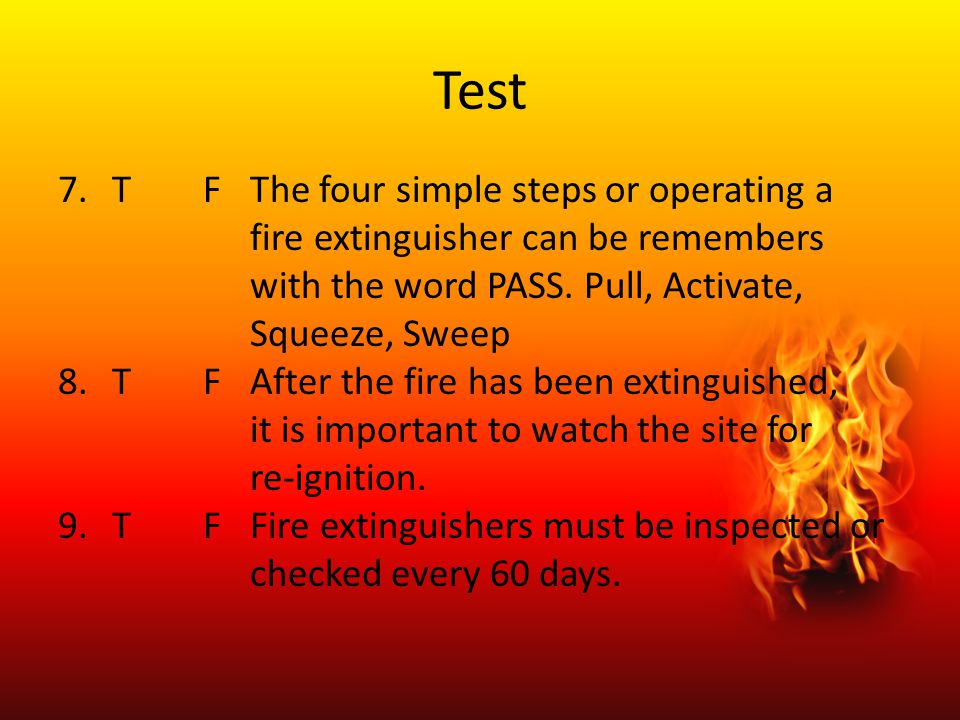 Test T F The four simple steps or operating a