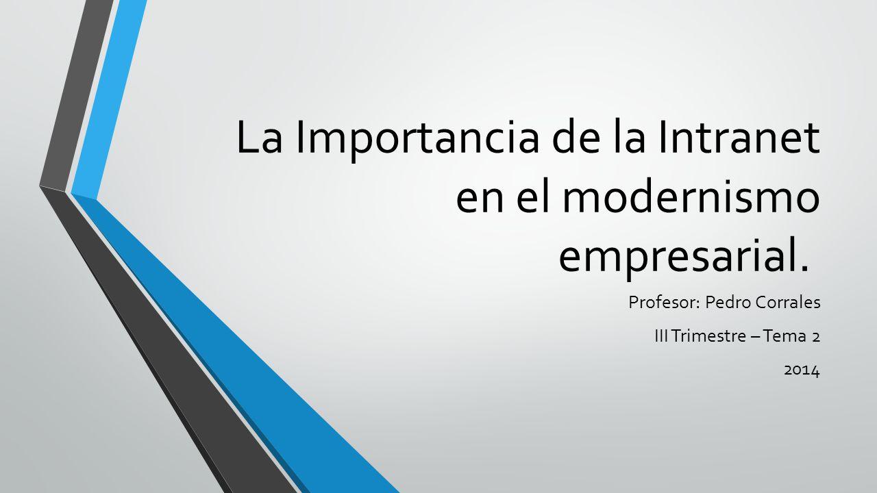 La Importancia de la Intranet en el modernismo empresarial.
