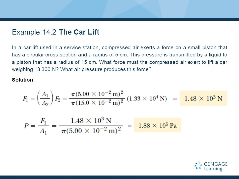 Example 14.2 The Car Lift