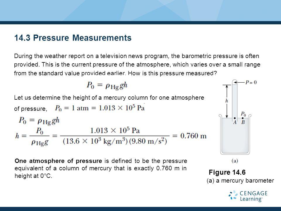 14.3 Pressure Measurements