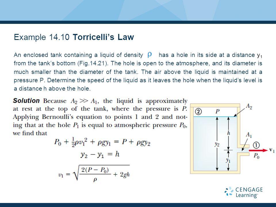 Example 14.10 Torricelli's Law