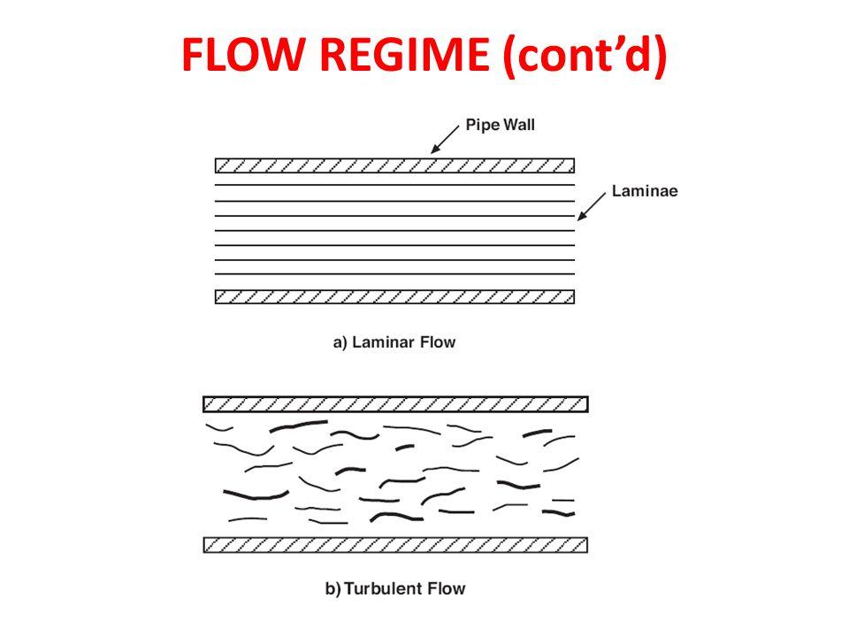 FLOW REGIME (cont'd)