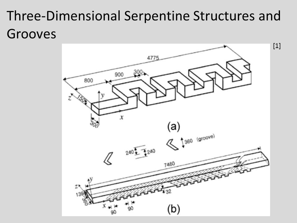 Three-Dimensional Serpentine Structures and Grooves