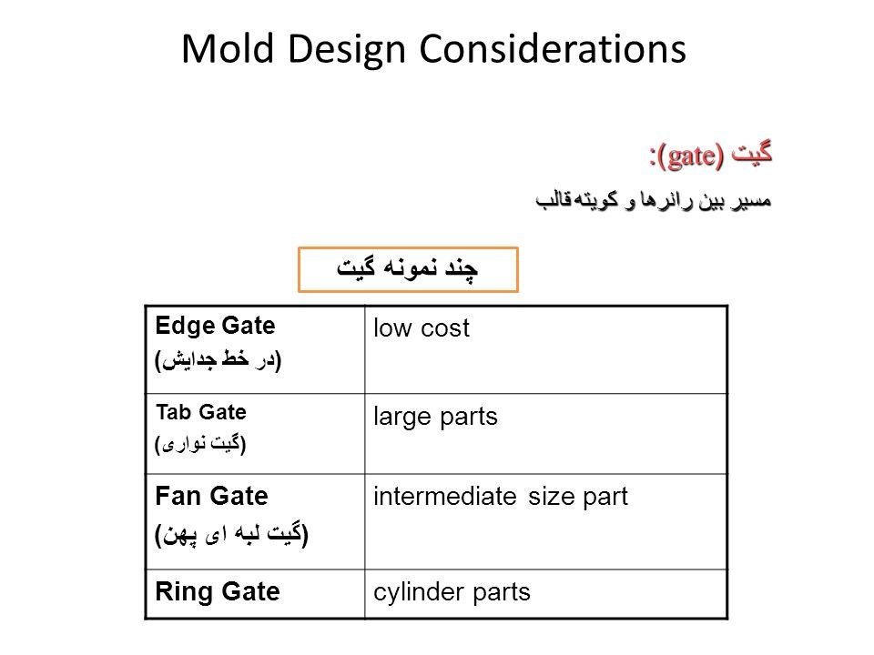 Mold Design Considerations