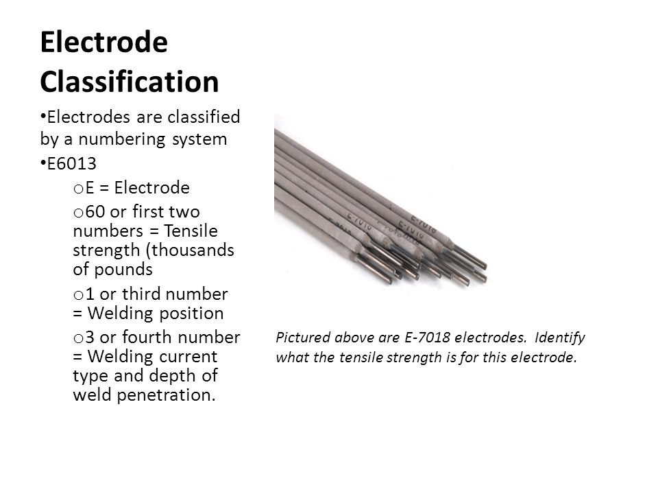 Electrode Classification
