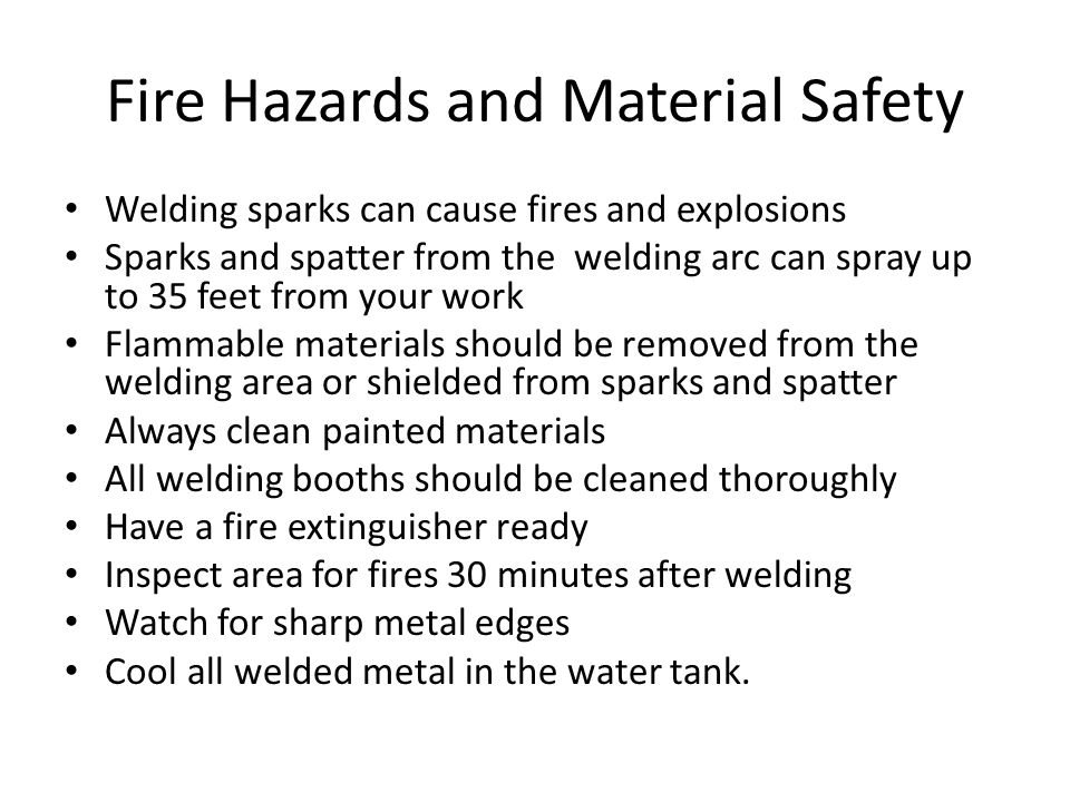 Fire Hazards and Material Safety