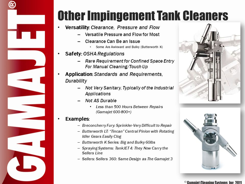 Other Impingement Tank Cleaners