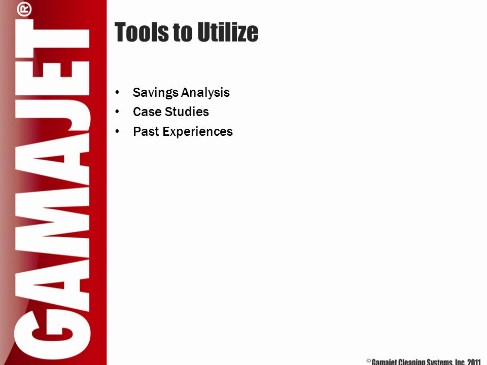 Tools to Utilize Savings Analysis Case Studies Past Experiences