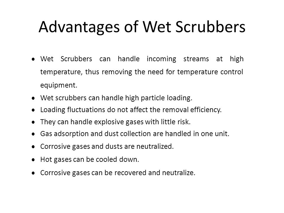 Advantages of Wet Scrubbers