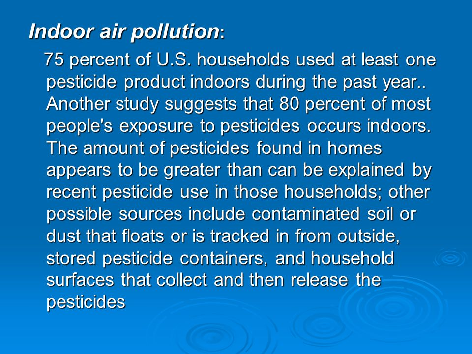 Indoor air pollution: