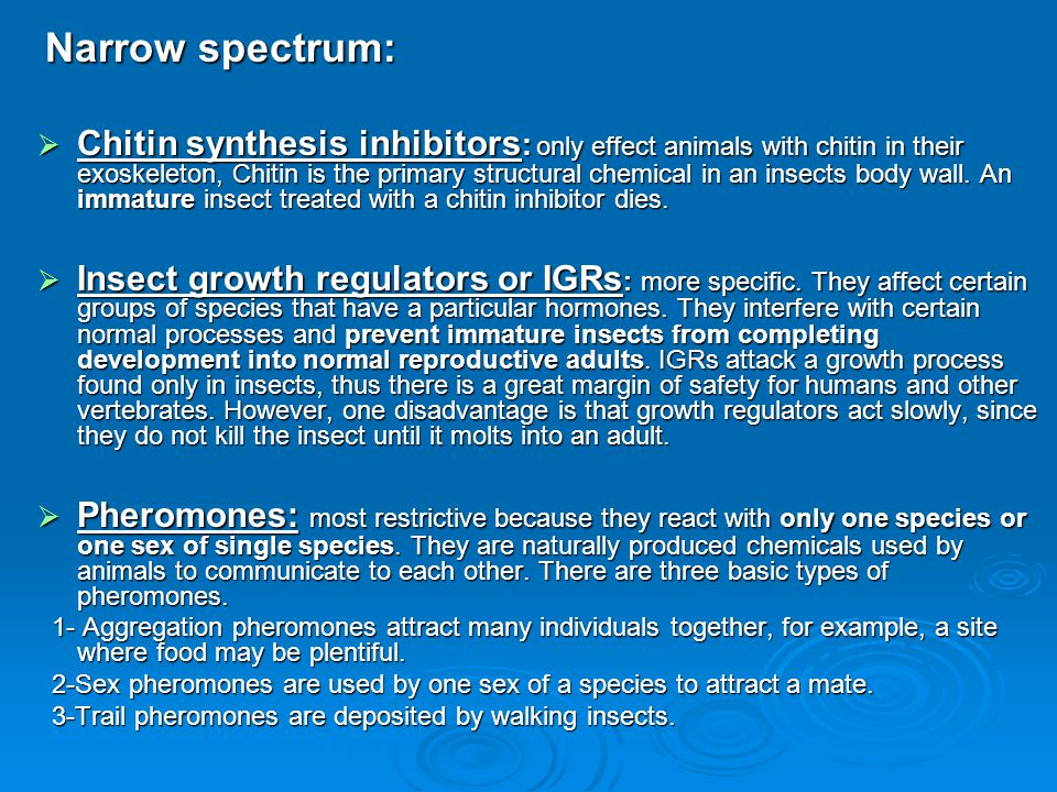 Narrow spectrum: