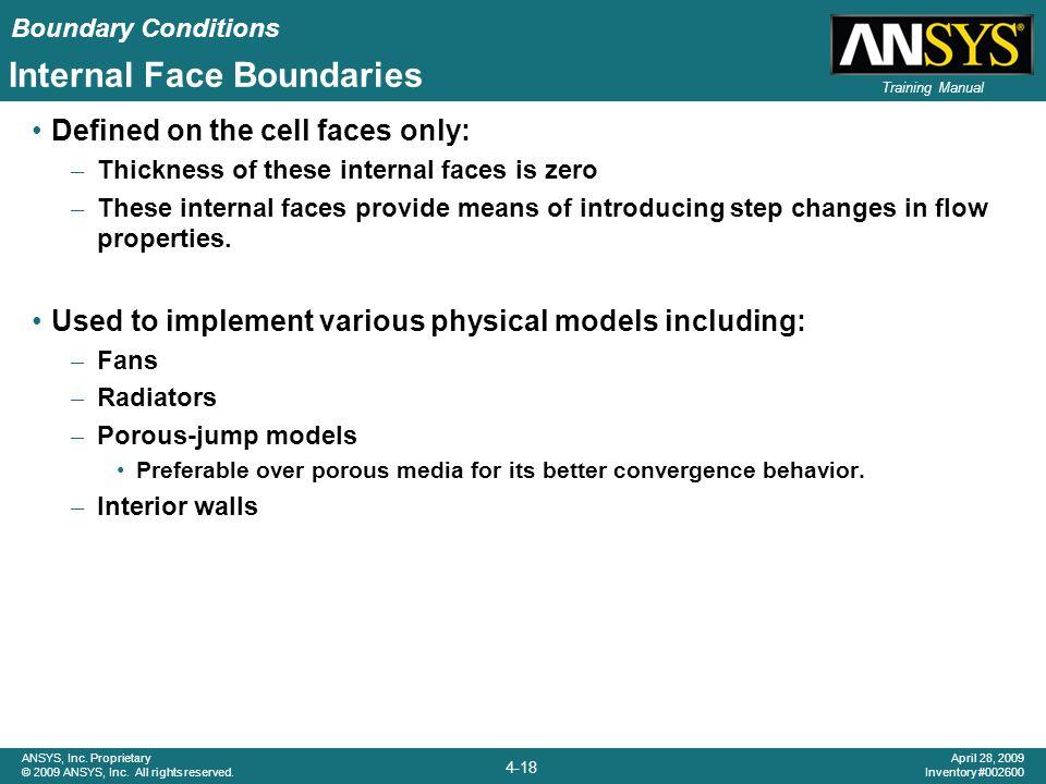 Internal Face Boundaries