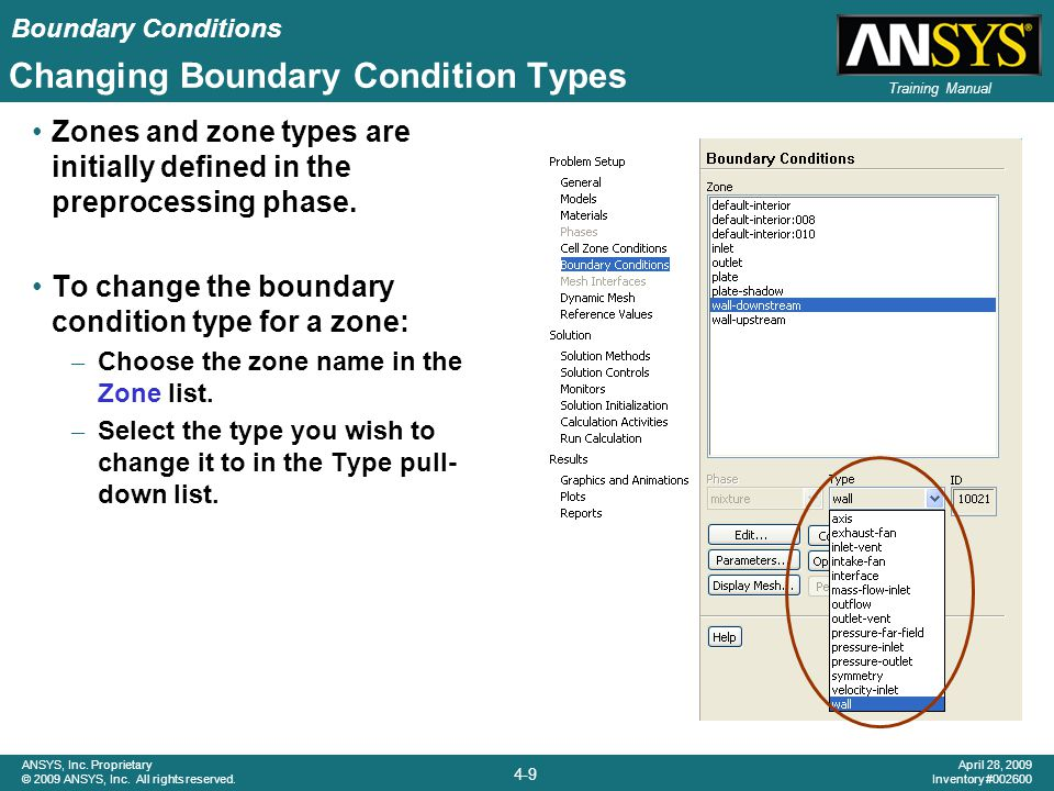 Changing Boundary Condition Types