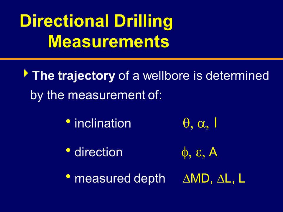 Directional Drilling Measurements