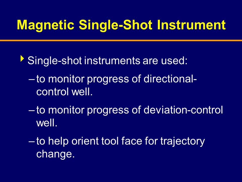 Magnetic Single-Shot Instrument