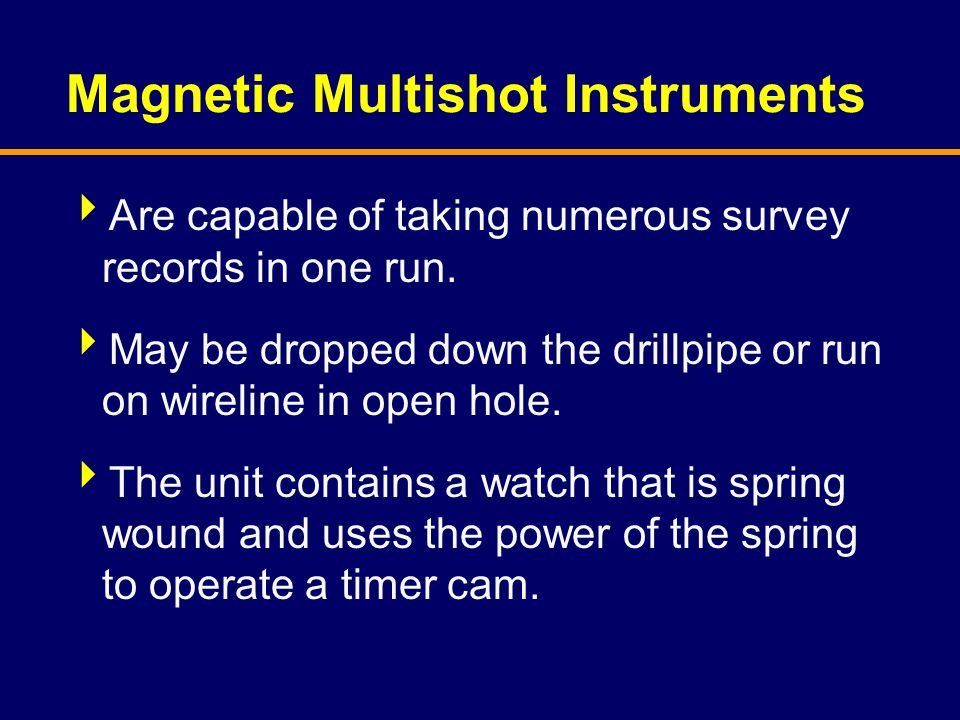 Magnetic Multishot Instruments
