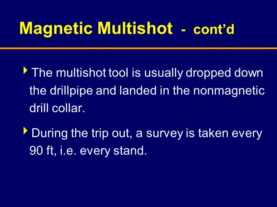 Magnetic Multishot - cont'd