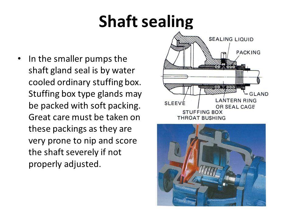 Shaft sealing