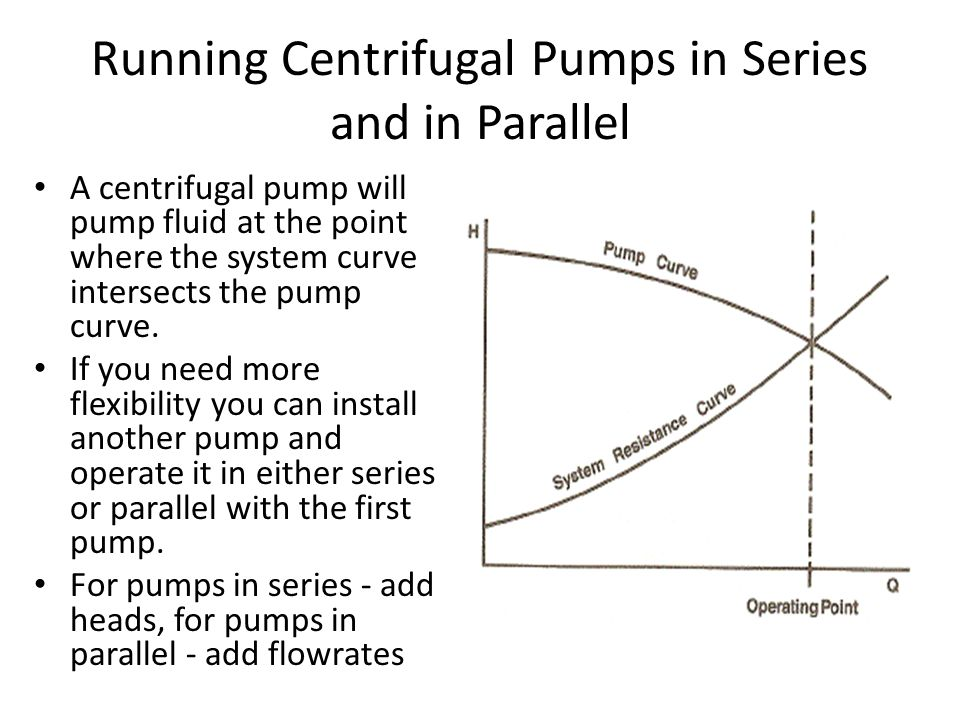 Running Centrifugal Pumps in Series and in Parallel