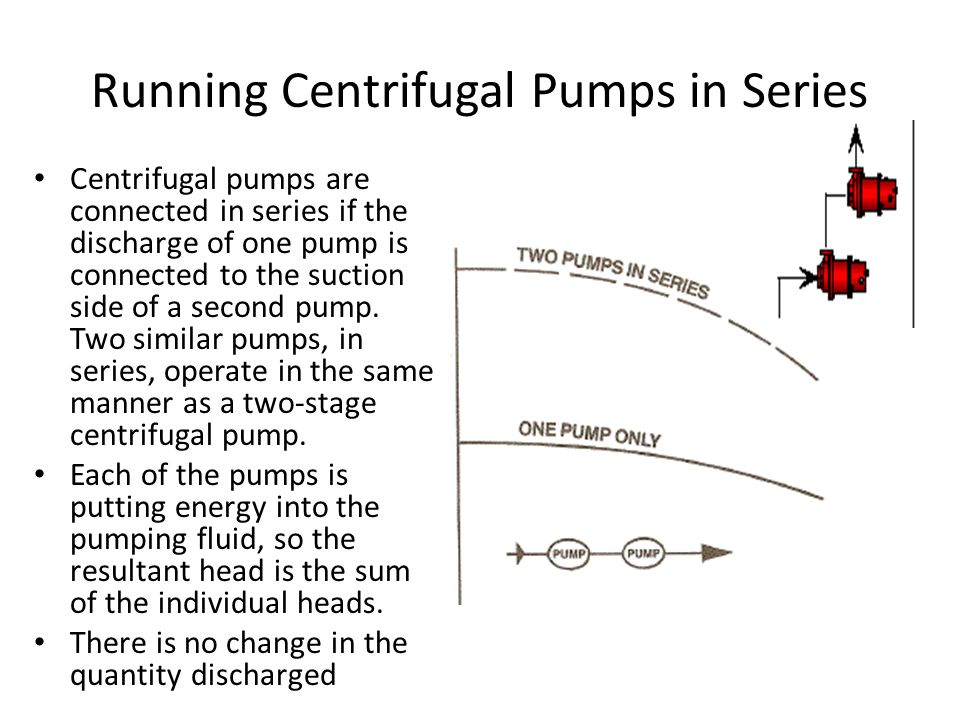 Running Centrifugal Pumps in Series