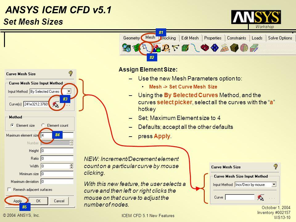 Set Mesh Sizes Assign Element Size: