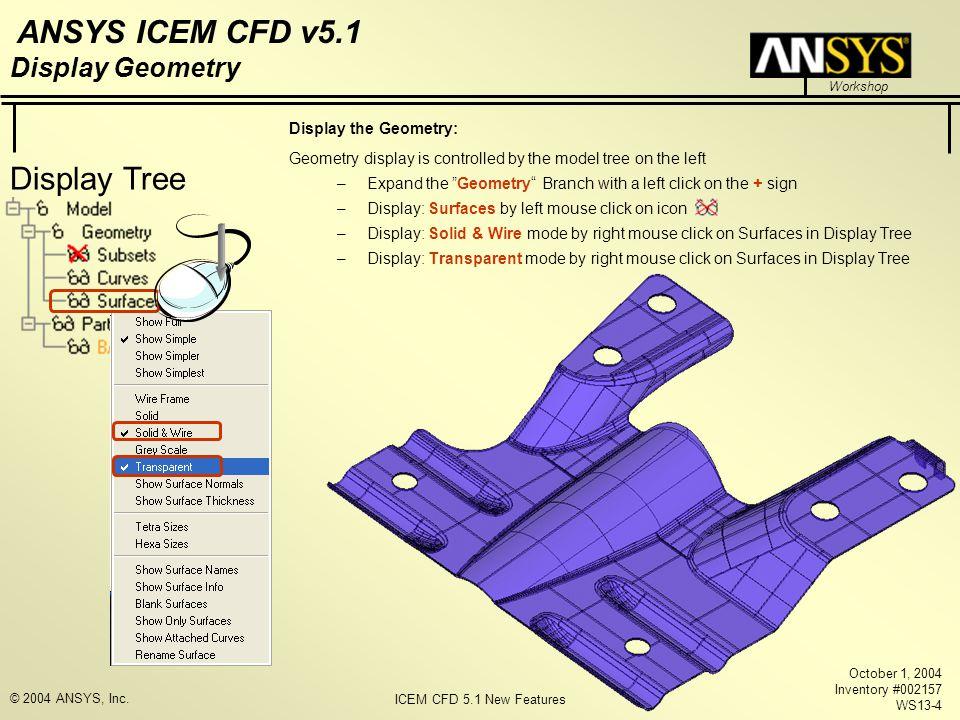 Display Tree Display Geometry Display the Geometry: