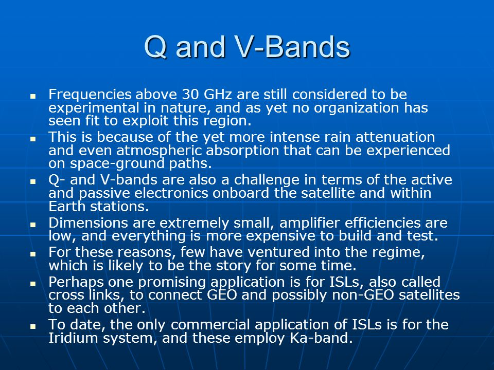 Q and V-Bands