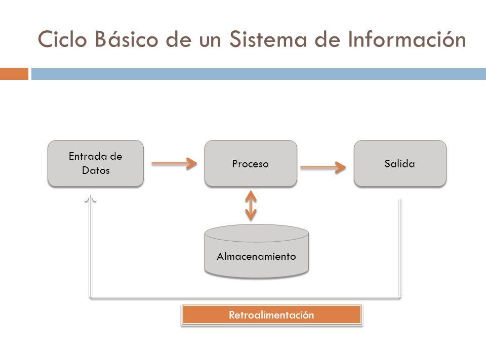 Ciclo Básico de un Sistema de Información
