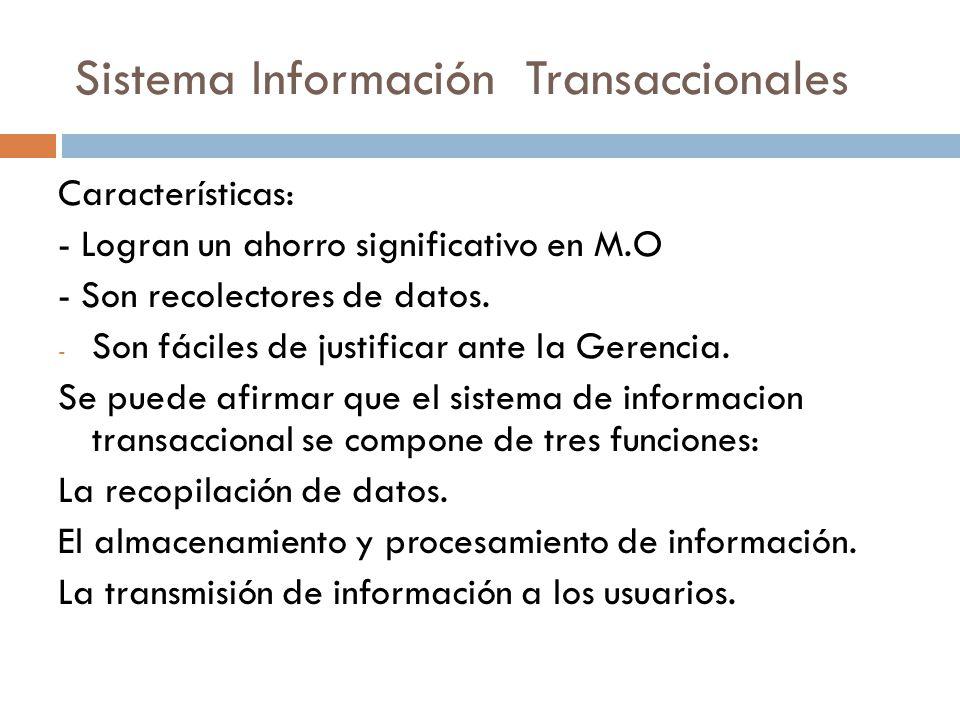Sistema Información Transaccionales