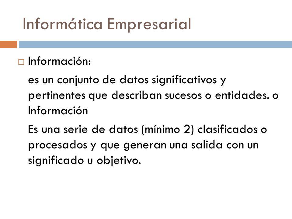 Informática Empresarial