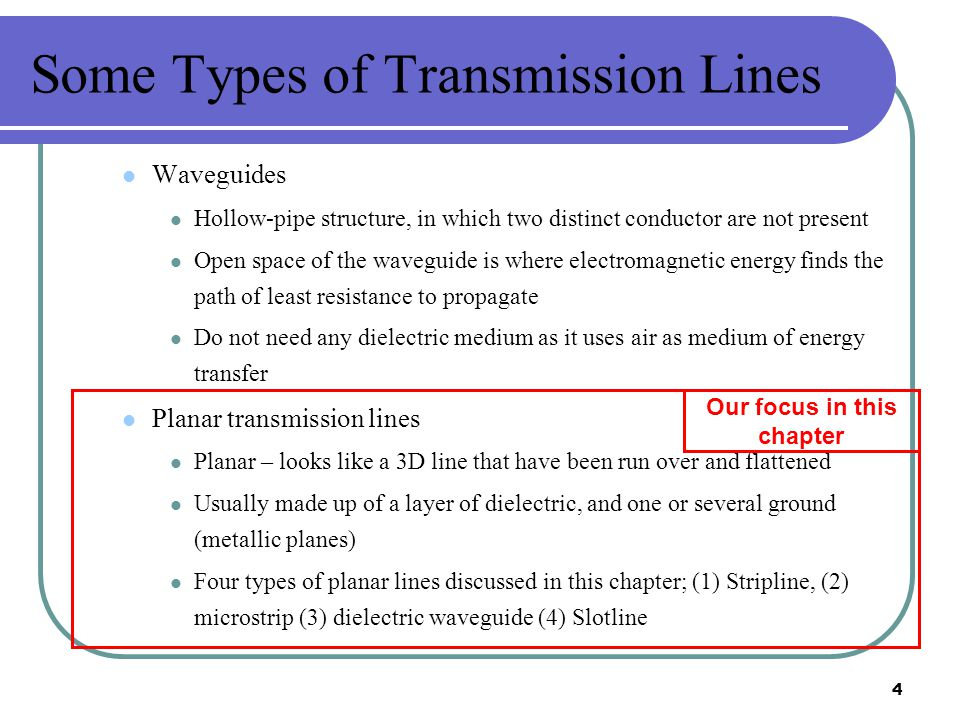Some Types of Transmission Lines
