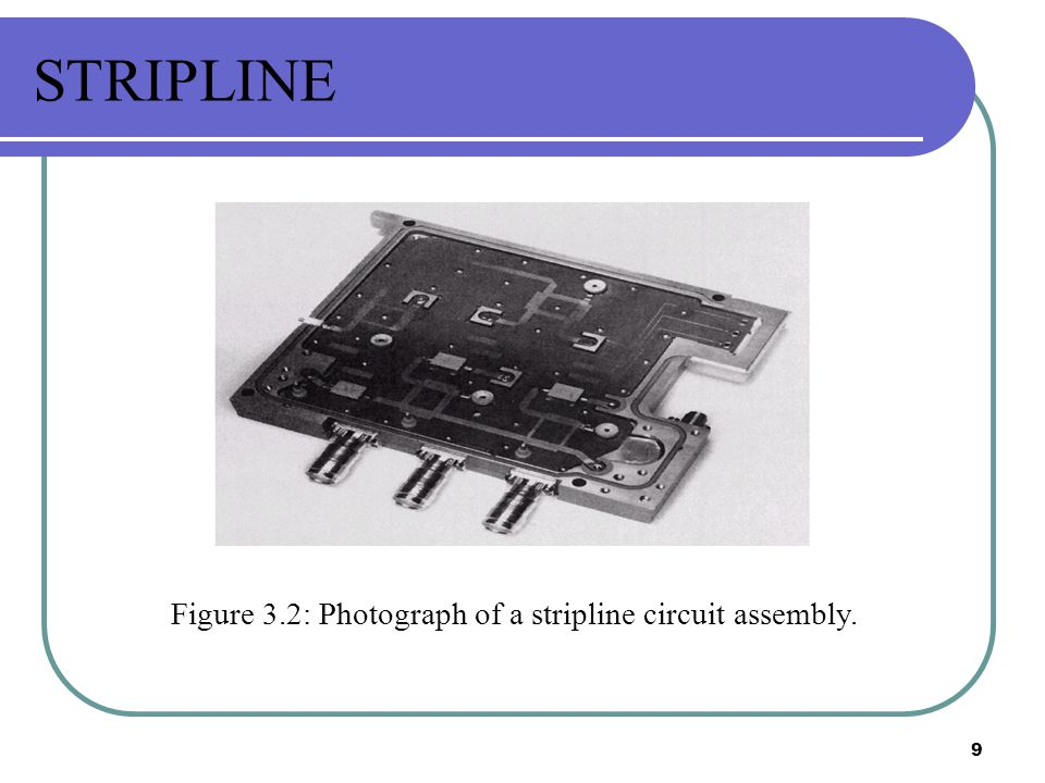 STRIPLINE Figure 3.2: Photograph of a stripline circuit assembly.