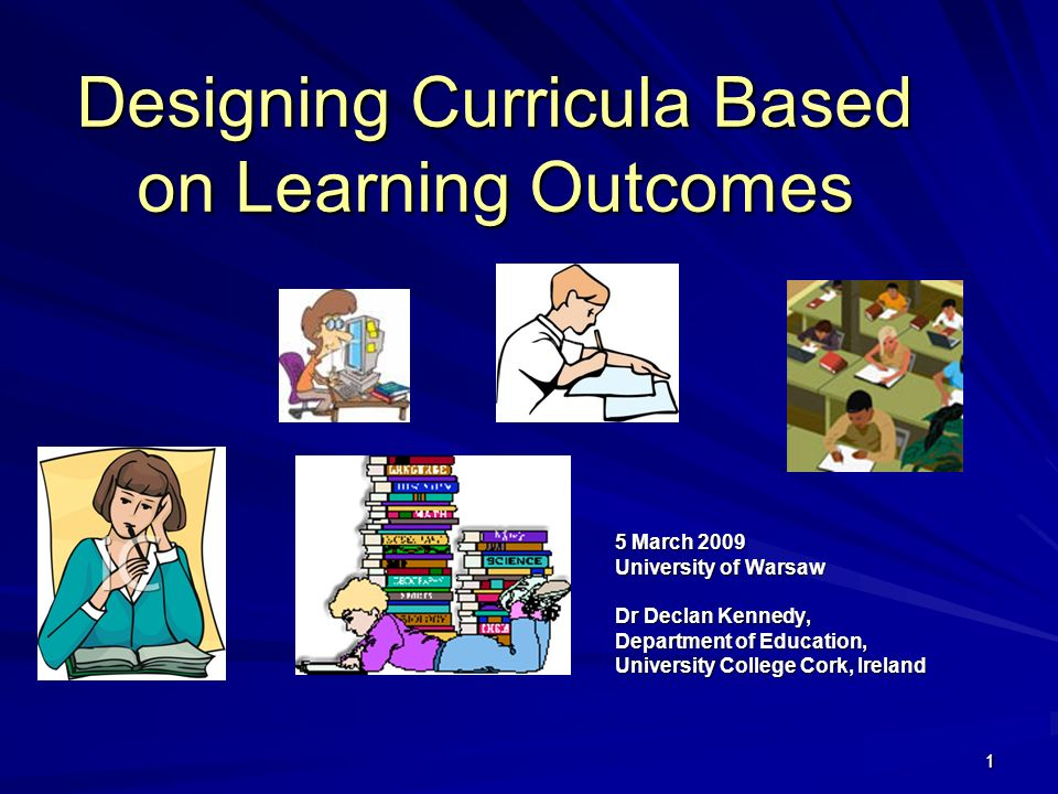 Designing Curricula Based on Learning Outcomes