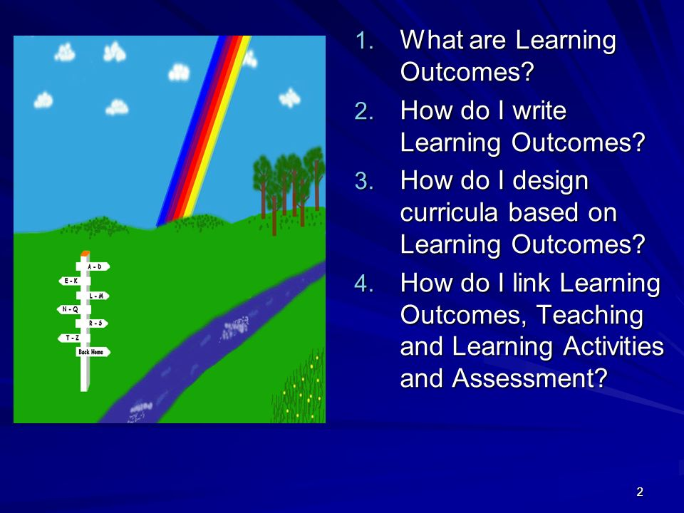 What are Learning Outcomes How do I write Learning Outcomes